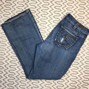 Silver Alexa Bootcut Jeans Size 14/33